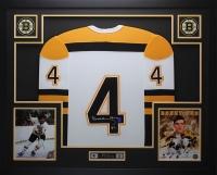 """Bobby Orr Signed Bruins 35"""" x 43"""" Custom Framed Jersey (Orr COA)"""