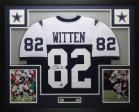 "Jason Witten Signed Cowboys 35"" x 43"" Custom Framed Jersey (JSA COA & Witten Hologram)"