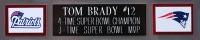 "Tom Brady Signed Patriots 35"" x 43"" Custom Framed Jersey (TriStar) at PristineAuction.com"