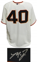 Madison Bumgarner Signed San Francisco Giants Tan Majestic Replica Jersey at PristineAuction.com