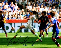 Lauren Holiday Signed USA Soccer Kicking Ball Action 8x10 Photo  at PristineAuction.com