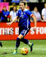 Abby Wambach Signed USA Soccer Dribbling Ball Action 8x10 Photo at PristineAuction.com