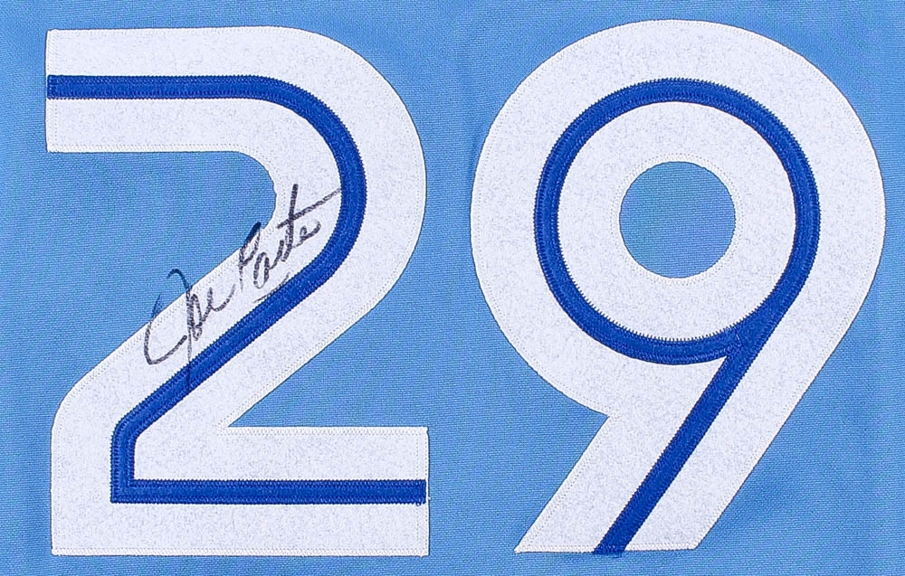 2fd0716307b Joe Carter Signed Blue Jays Throwback Jersey (JSA COA) at  PristineAuction.com