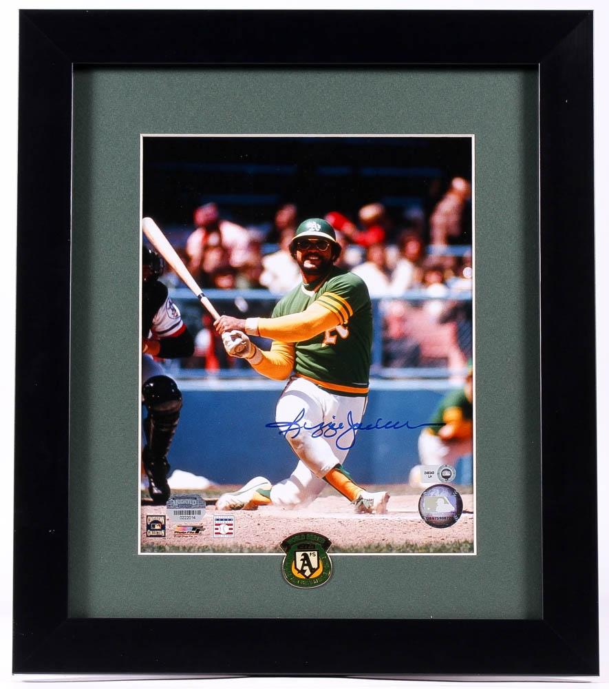Reggie Jackson Signed Athletics 13x15 Custom Framed Photo ...  Mounted