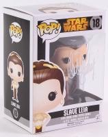 "Carrie Fisher Signed ""Star Wars"" Slave Leia Funko POP! Vinyl Bobble Head (Radtke COA)"
