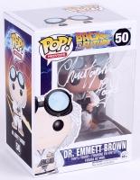 "Christopher Lloyd Signed Back To The Future ""Dr. Emmett Brown"" Funko Pop Figure (JSA COA)"