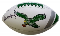 Wilbert Montgomery Signed Eagles Throwback Logo Football (SI COA)