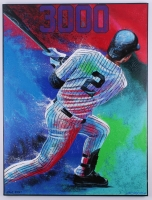 """Bill Lopa """"Derek Jeter"""" Yankees Signed Limited Edition Hand-Embellished 30x40 AROC Giclee on Canvas #23/27"""