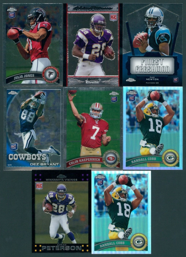 Lot Of 8 Football Cards With Adrian Peterson Julio Jones