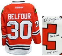 Ed Belfour Signed Chicago Blackhawks Red Reebok Premier Hockey Jersey w/The Eagle, HOF 2011 at PristineAuction.com