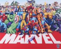Stan Lee Signed Marvel Universe 16x20 Photo (PSA COA)
