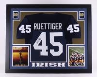 "Rudy Ruettiger Signed Notre Dame Fighting Irish 35"" x 43"" Custom Framed Jersey (JSA COA) at PristineAuction.com"