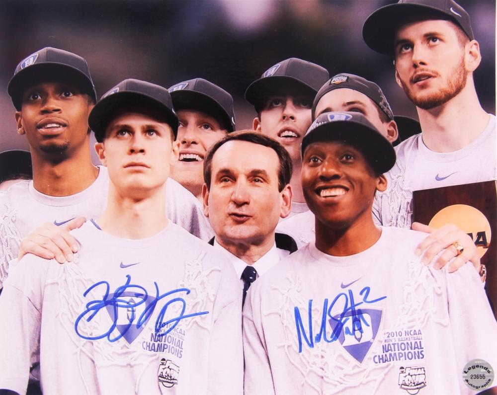 a761563e4414 Kyle Singler   Nolan Smith Signed Duke Blue Devils 8x10 Photo (Legends COA)  at