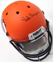 Gale Sayers Signed Bears Full-Size Custom Flat Matte Orange Helmet (JSA COA)