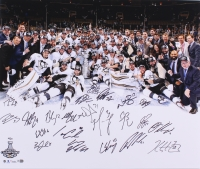 2016 Stanley Cup Champion Pittsburgh Penguins LE 20x24 Photo Signed by (22) With Sidney Crosby, Evgeni Malkin, Matt Murray, Marc-Andre Fleury (Fanatics Hologram)