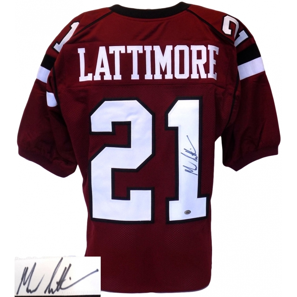 660eff009 Marcus Lattimore Signed South Carolina Gamecocks Jersey (Lattimore Hologram    SI COA)
