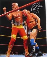 Hulk Hogan & Ric Flair Signed WWE 16x20 Photo (JSA COA)
