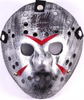 "Kane Hodder Signed Jason ""Friday the 13th"" Metallic Silver Custom Hockey Mask Inscribed ""Jason 7, 8, 9, X"" (PA COA)"