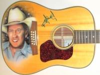 George Strait Signed Walden Natura Custom Airbrushed Acoustic Guitar (JSA LOA)