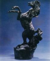 """LeRoy Neiman """"Defiant"""" 1987 LE Bronze Sculpture #70/350"""