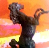 """LeRoy Neiman """"Defiant"""" 1987 LE Bronze Sculpture #64/350"""