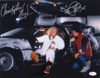 "Michael J. Fox & Christopher Lloyd Signed ""Back to the Future"" 11x14 Photo (JSA COA)"