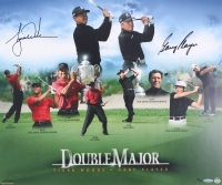 "Tiger Woods & Gary Player Signed LE ""Double Major"" 20x24 Photo (UDA COA)"