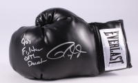 "Roy Jones Jr. Signed Black Everlast Boxing Glove Inscribed ""90's Fighter of the Decade"" (Schwartz COA)"