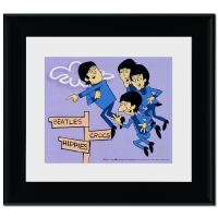 """""""The Beatles: In Air"""" Limited Edition 18x20 Sericel Recreated From The Beatles Saturday Morning Cartoon Series"""