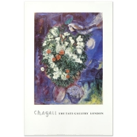 "Marc Chagall ""Bouquet with Flying Lover"" 20x30 Fine Art Poster at PristineAuction.com"