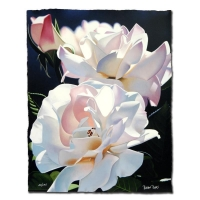 """Brian Davis Signed """"Two White Roses"""" LE 16x20 Giclee at PristineAuction.com"""