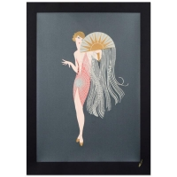 "Erte ""Flapper"" Limited Edition 29.5"" x 40"" Serigraph"