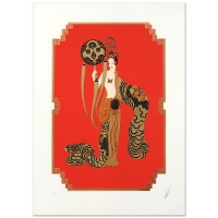 "Erte Signed ""Bamboo"" Limited Edition 20x28 Serigraph"
