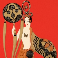 """Erte Signed """"Bamboo"""" Limited Edition 20x28 Serigraph at PristineAuction.com"""