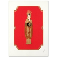 "Erte Signed ""Plum Blossom"" LE 20x28 Serigraph at PristineAuction.com"
