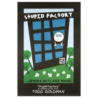 """Todd Goldman """"Stupid Factory, Where Boys Are Made"""" Fine Art 24x36 Lithograph Poster at PristineAuction.com"""