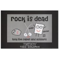 "Todd Goldman ""Rock is Dead"" Fine Art 24x36 Lithograph Poster"