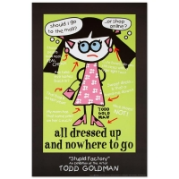"""Todd Goldman """"All Dressed Up and Nowhere to Go"""" Fine Art 24x36 Lithograph Poster at PristineAuction.com"""