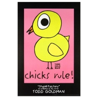 "Todd Goldman ""Chicks Rule"" Fine Art 24x36 Lithograph Poster at PristineAuction.com"