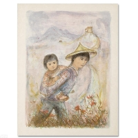 """Edna Hibel Signed """"The Great Wall"""" Limited Edition 22x30 Lithograph at PristineAuction.com"""