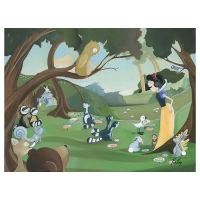"Katie Kelly Signed ""Forest Friends"" Limited Edition 24x18 Giclee on Canvas Licensed by Disney Fine Art at PristineAuction.com"
