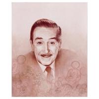 "Mike Kupka Signed ""Walt Portrait"" Limited Edition 16x20 Giclee on Canvas from Disney Fine Art"