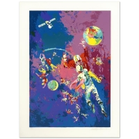 "LeRoy Neiman Signed ""Satellite Football (1982)"" Limited Edition 30x41 Serigraph at PristineAuction.com"