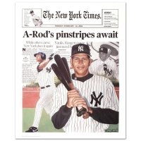 "Doug London Signed ""A-Rod New York Times"" 21x27 Print at PristineAuction.com"
