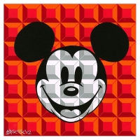 "Tennessee Loveless Signed ""8-Bit Block Mickey (Red)"" Limited Edition 12x12 Giclee on Canvas Licensed by Disney Fine Art"
