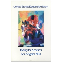 """Leroy Neiman """"United States Equestrian Team / Riding for America / Los Angeles 1984"""" 24x36 Print (PA LOA) at PristineAuction.com"""