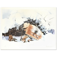 """William Nelson Signed """"Digging In"""" Limited Edition 22x29 Lithograph"""