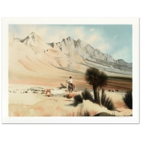 """William Nelson Signed """"The Dogie"""" Limited Edition 22x29 Lithograph"""