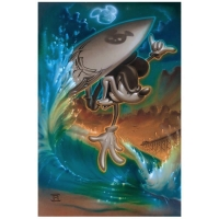"Noah Signed ""Off the Lip"" Limited Edition 18x27 Giclee on Canvas Licensed by Disney Fine Art"