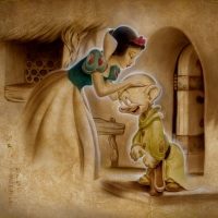 "Noah Signed ""Awaiting the Kiss"" Limited Edition 24x32 Giclee on Canvas at PristineAuction.com"